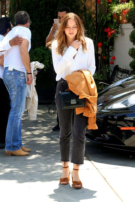 Stella Banderas Out for Lunch with Her Father Antonio in ...