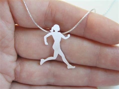 Sterling Silver Runner Neckalace Pendant - Running Woman ...