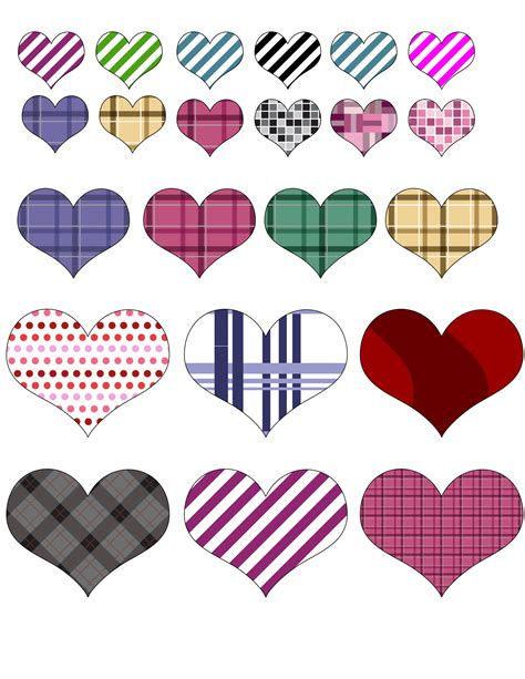 Stickers de corazones pára imprimir | Tips e ideas