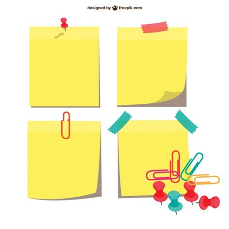 Sticky notes pack Vector | Free Download