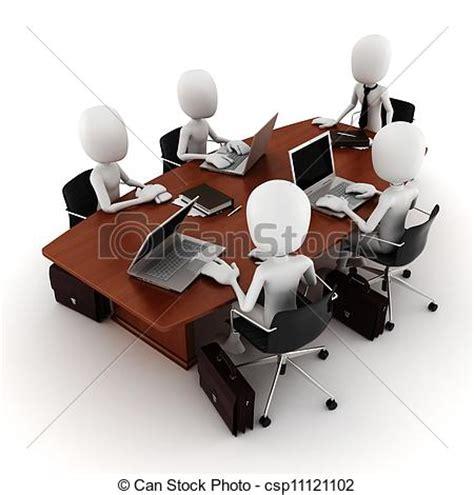 Stock Illustration of 3d man business meeting csp11121102 ...