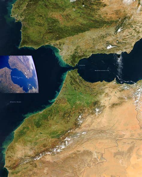 Strait of Gibraltar, Spain, Morocco - Image