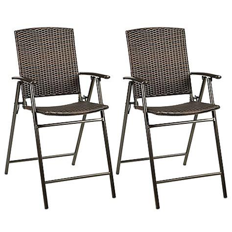 Stratford Wicker Folding Balcony Chair  Set of 2    Bed ...
