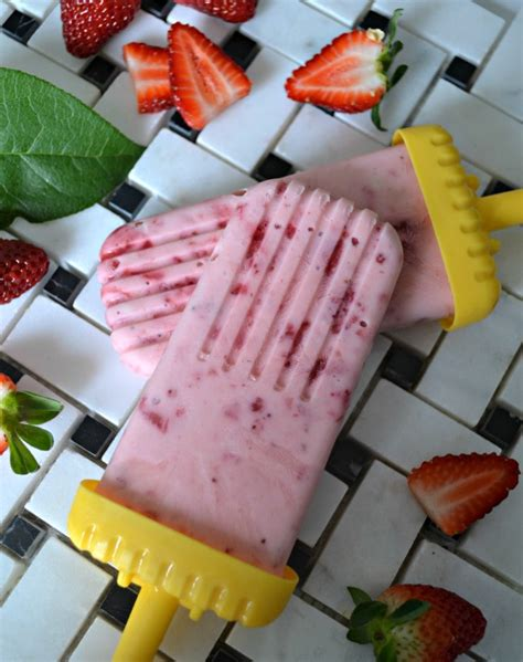 Strawberry Vanilla Greek Yogurt Pops • The Inspired Home