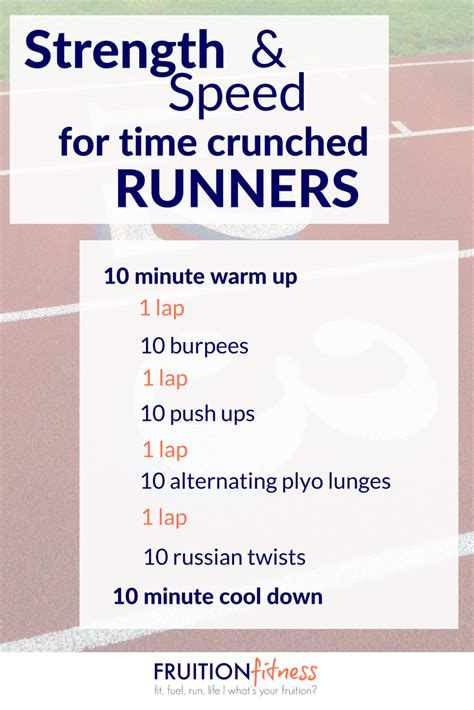 Strength and Speed Workout for Time Crunched Runners ...