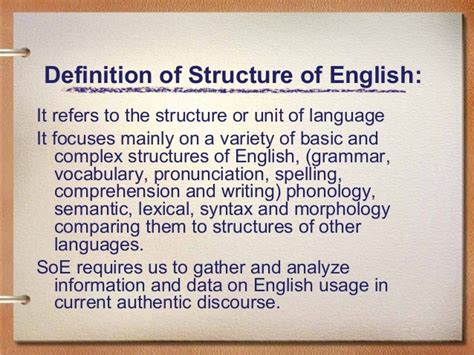 Structure of English (A Definition)