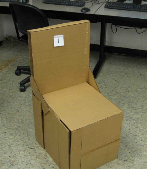 Students Design and Build Cardboard Chairs | Watkins ...