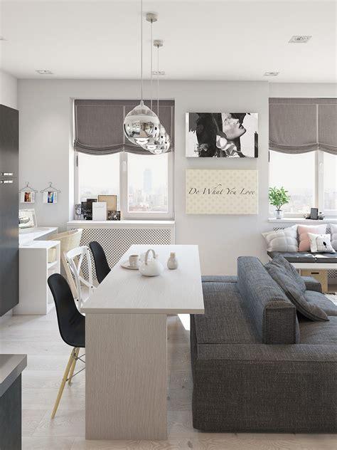 Studio Apartment Interior Design With Cute Decorating ...