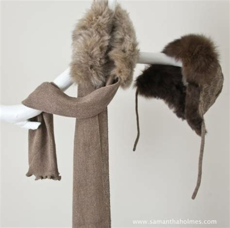 Stunning composition of Samantha Holmes Fur Trim Wrap and ...