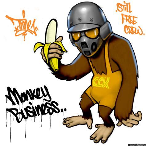 Styling and design graffiti street art photography: Monkey ...