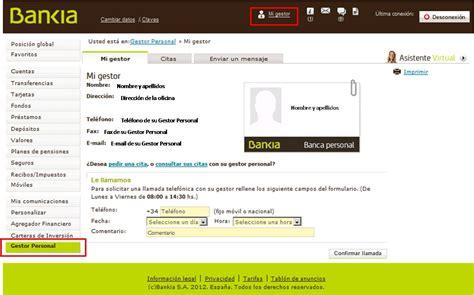 Su Gestor Personal   Bankia.es