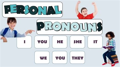 Subject Pronouns: English Language - YouTube