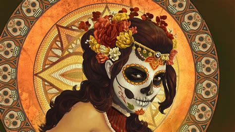 Sugar Skull, Dia De Los Muertos, Digital Art, Artwork ...