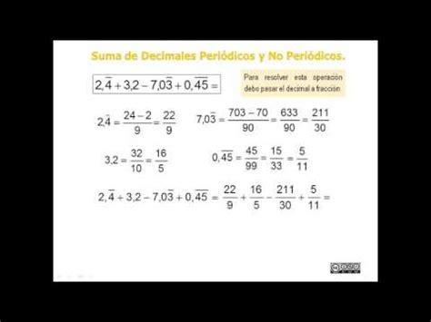 Suma con Números Periódicos. Números Reales II   YouTube