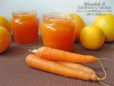 Suma de Colores: Mermelada de zanahoria y naranja