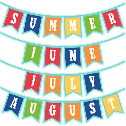 Summer Months Banners SVG scrapbook cut file cute clipart ...