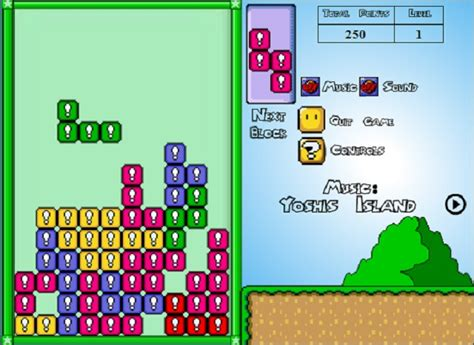 Super Mario tetris | Juegos infantiles
