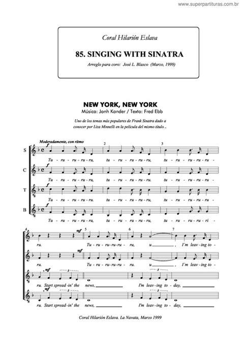 Super Partituras   New York, New York v.4  John Kander ...