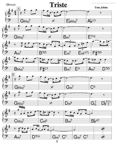 Super Partituras - Triste (Tom Jobim), com cifra