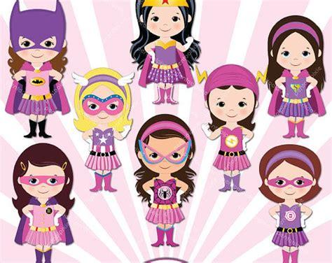 Supergirls, Girl Superhero Clip Art / Supergirls Clipart ...