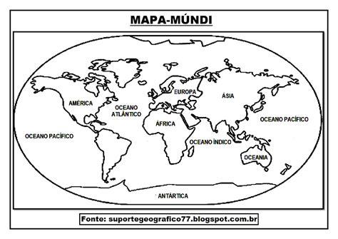 Suporte Geográfico: MAPA MÚNDI PARA COLORIR