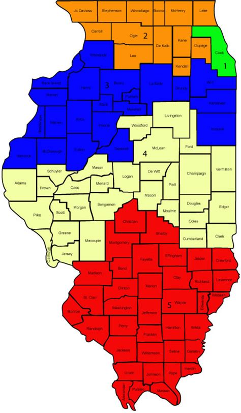 Supreme and Appellate Court District Map