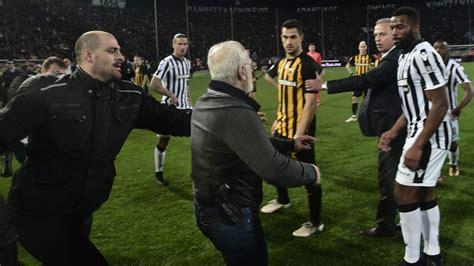 Suspenden liga griega tras invasión del presidente del ...