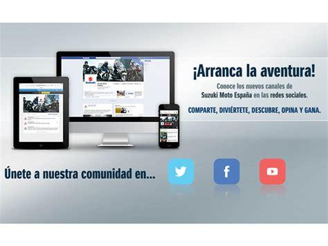 Suzuki Moto España en las redes sociales