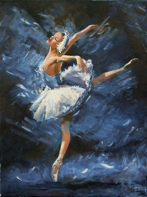 Swan Lake Painting by Bin Feng