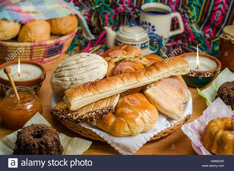 Sweet bread assorted traditional Mexican bakery Stock ...