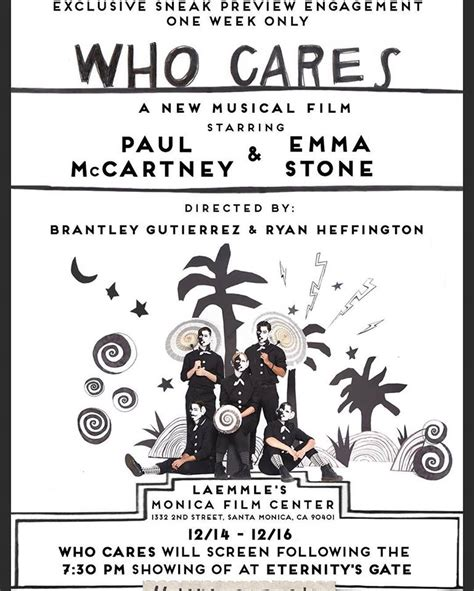 """""""WHO CARES"""" : A NEW MUSICAL FILM WITH PAUL AND EMMA STONE ..."""