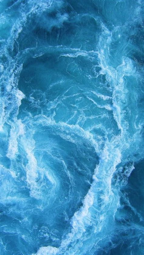 Swirling Blue Ocean Waves iPhone 6+ HD Wallpaper | iPhone ...