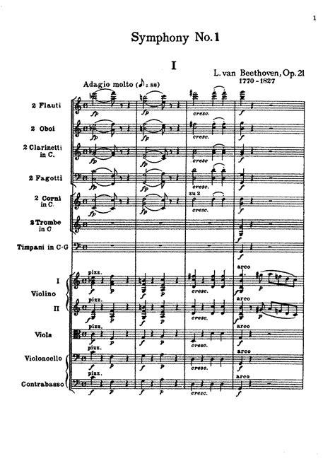 Symphony No.1, Op.21 (Beethoven, Ludwig van) - IMSLP ...