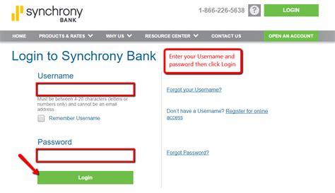 Synchrony Bank Online Banking Login - CC Bank