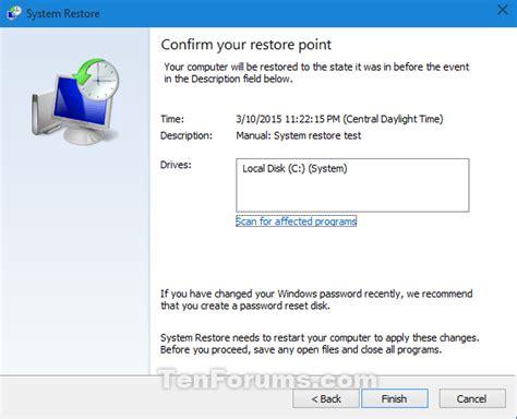 System Restore Windows 10 | Windows 10 Tutorials
