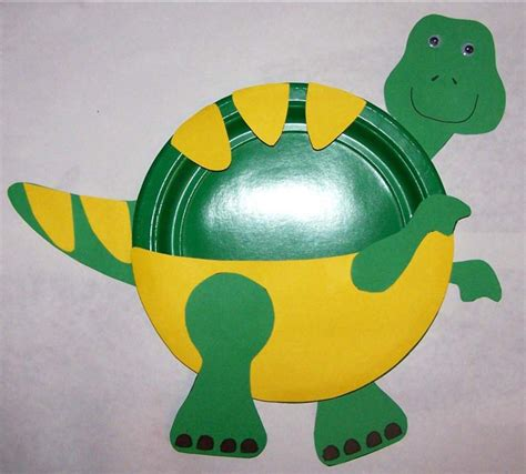 T Rex Paper Plate Craft | Preschool Crafts for Kids
