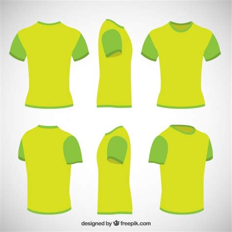 T shirts in lime green color Vector | Free Download