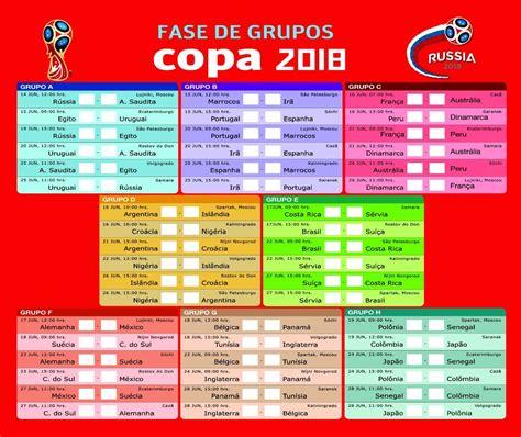 Tabela Da Copa 2018, 100 Unidades   Completa   R$ 61,90 em ...