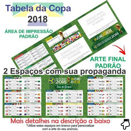 tabela da copa do mundo 2018 COUCHÊ 115G 2 DOBRAS   Brasil ...