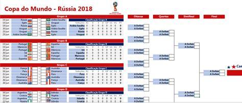 Tabela da Copa do Mundo 2018 em Excel - Excel Easy