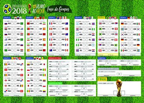 Tabela Da Copa Do Mundo 2018   R$ 35,00 em Mercado Livre