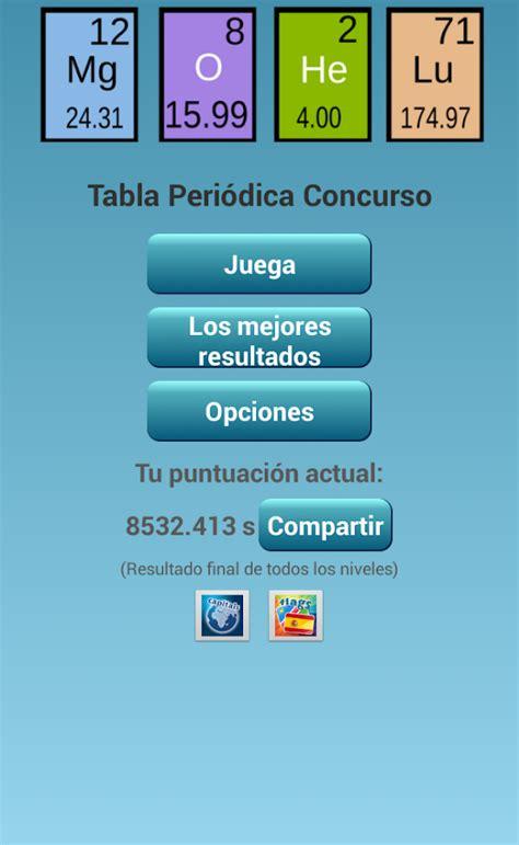 Tabla Periódica Concurso - Aplicaciones de Android en ...