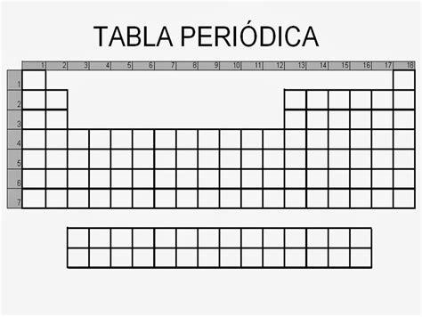Tabla Periodica De Los Elementos Sin Rellenar New Tabla ...