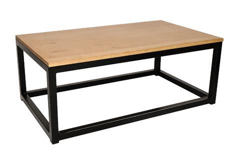 table basse en bois et fer | Idées de Décoration ...