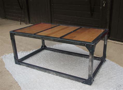 Table basse fer bois table de salon bois blanc ...