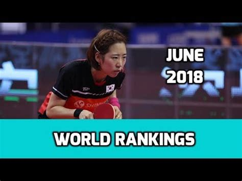 Table Tennis World Rankings | June 2018 - YouTube