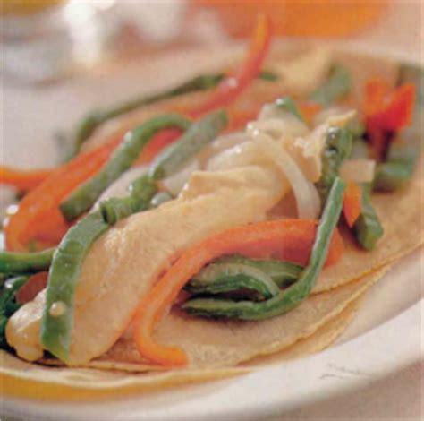 Tacos de Fajitas de Pollo con Nopales. Receta | Cocina Muy ...