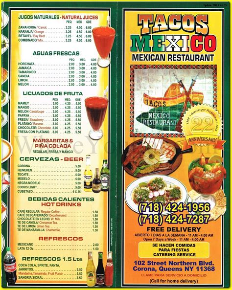 Tacos Mexico Mexican Restaurant in Corona, Queens, 11368 ...