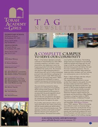TAG Newsletter by Shaindel Plumer   Issuu