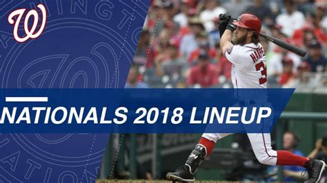 Take a look at the projected Nationals 2018 lineup